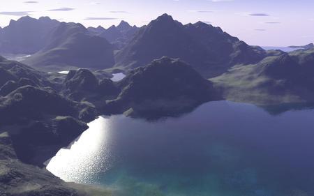 Farmika - mountains, lake