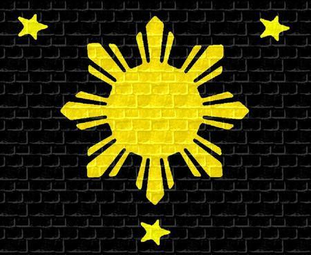 Three stars & a Sun - symbols, logos