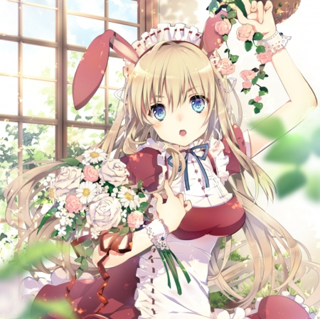 Flower Bunny Other Anime Background Wallpapers On Desktop