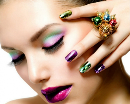 Make Up And Nail Art Models Female People Background Wallpapers