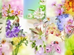 Spring Floral Collage