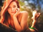 Redhead Beach Girl
