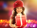 A small girl - gift