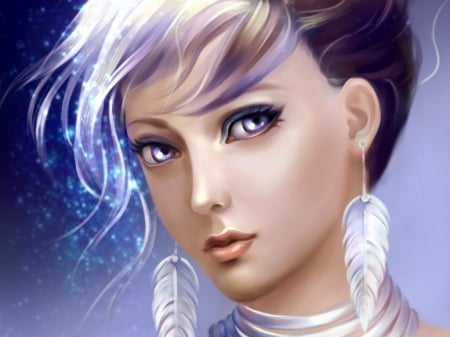 :) - art, fantasy, lady, abstract