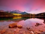 Sunrise at Patricia lake