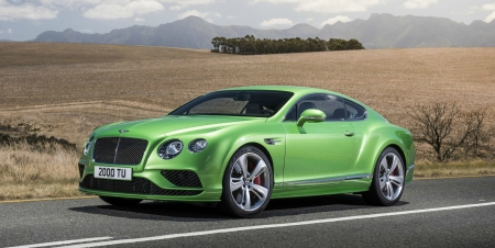 2016-Bentley-Continental-GT-Speed - 2016, GT, Lime Grren, Sports Car