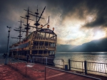 HMS Victory at Sunset