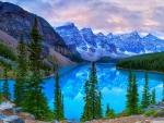 Beautiful Moraine Lake in Canada