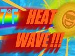 27 degrees Fahrenheit: HEAT WAVE!!!