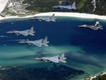 Six Fighter Planes In Formation