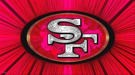 SF 49rs Cracked glass - 49er wallpaper, San Francisco 49rs, San Francisco Football,