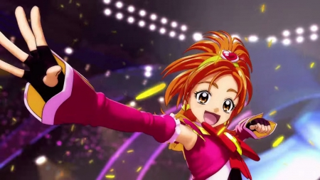 Cure Bloom - pretty, hd, cg, beautiful, adorable, sweet, magical girl, nice, pretty cure, anime, beauty, anime girl, female, lovely, smile, smiling, cute, kawaii, girl, precure, orange hair