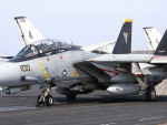 Tomcat on the flight deck