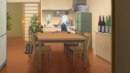Kitchen - pretty, house, guy, cooking, home, beautiful, sweet, nice, shinji, anime, neon, beauty, chair, ikari, table, male, lovely, genesis, kitchen, evangelion, neon genesis evangelion, boy, eva, ikari shinji, cook, shinji ikari, scene