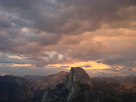 Half Dome sunset - fun, cool, Half Dome, sunset, nature, mountain
