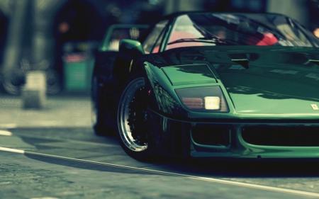 green ferrari f40 , Ferrari \u0026 Cars Background Wallpapers on