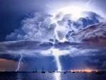 Lighting Over the Ocean