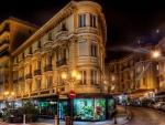 Town Square in Monaco at Night