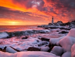 Winter - lighthouse