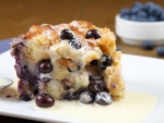 blueberry bread puding