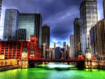 Chicago River~Saint Patrick's Day