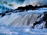 Winter - waterfall