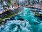 Winter - wild river