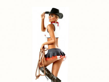Rodeo Dancer - hats, style, boots, girls, models, cowgirls, fun, dancing, women, western, female, fashion, blondes, rope