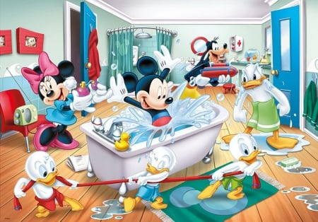 Mickey Mouse & Friends: Super Bath - freinds, donald, mause, cartoon, mickey