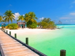 Wooden Jetty To Paradise