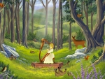 Fairy song in forest