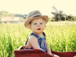 little boy loves the country life