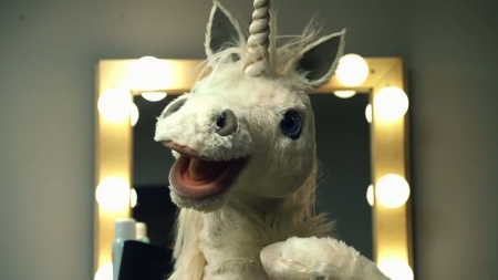 Silly unicorn - whimsy, dressing room, mirror, 1920x1080