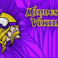 Psychedelic Glass Vikings Logo