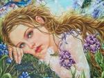 cherub angel painting