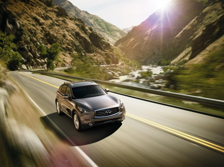 infiniti fx 50 - infiniti, brown, mountian, road, fx 50