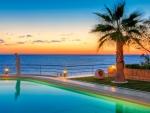 Beach Resort at Sunset