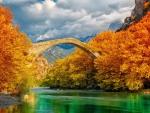 Bridge Over Autumn River