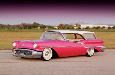 1957-Oldsmobile-Fiesta - 1957, Whitewalls, GM, Pink