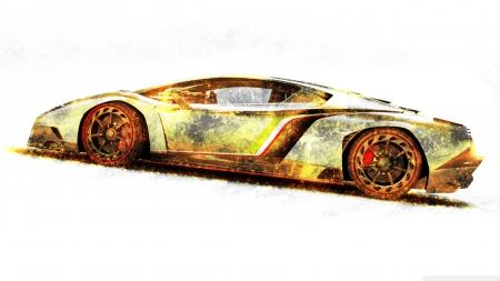 lamborghini veneno gold edition , 3D and CG \u0026 Abstract