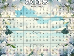 2015 Calendar - Blue