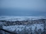 A mountainous wintery village - Greece