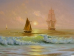 ships on the ocean