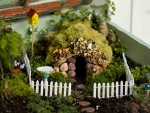 Fairy house and garden at home