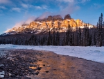 Castle Mountain at Sunrise, Banff, Alberta