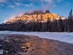 Castle Mountain at Sunrise, Banff, Alberta