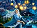 blue fantasy girl