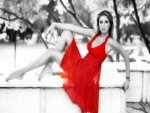 Woman in RED Dress !