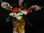 Luminous flower arrangement