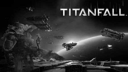 titanfall space - guns, moons, games, space, robots, soldiers, titan soldiers, titanfall